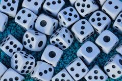 小比赛骨头纹理在蓝宝石的 免版税图库摄影