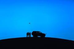 小汽车赛在desertï ¼ Œchina 免版税库存照片