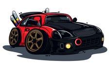 小汽车赛红色 图库摄影
