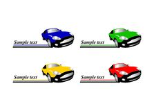 小汽车赛自动徽标 免版税图库摄影
