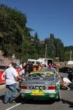 小汽车赛起始时间 库存图片