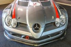 小汽车赛:奔驰车SLR 库存图片