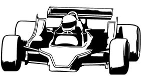 小汽车赛 库存图片