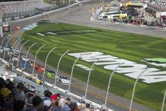 小汽车赛NASCAR, Daytona500,国际赛车场 免版税库存图片
