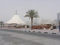 小河公园迪拜 免版税库存照片