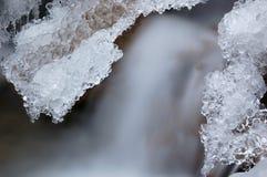 小河冰部分 免版税库存照片