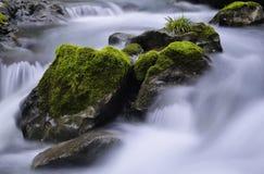 小河和岩石 免版税库存图片
