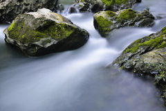 小河和岩石 免版税库存照片