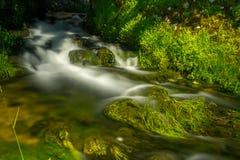 小河在利卡河,克罗地亚 免版税库存照片