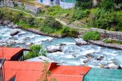 小河在印度 免版税库存照片