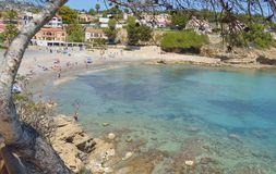 小河在Calpe,西班牙 免版税库存图片