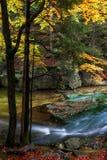 小河在Karkonosze国家公园 库存图片