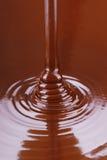 小河熔化巧克力倾吐 免版税库存图片