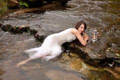 妇女灯笼水 免版税库存图片