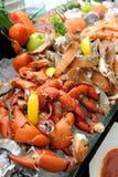 小河蟹腿新鲜的海鲜 免版税图库摄影