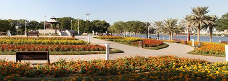 小河迪拜公园 库存照片