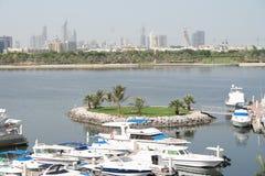 小河迪拜海湾阿拉伯联合酋长国 库存图片