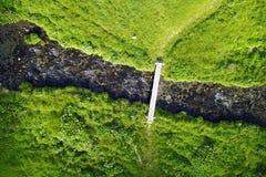 小河从上面 库存照片