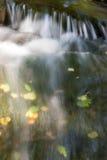 小河-浪端的白色泡沫 免版税库存照片