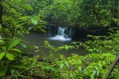 小河&瀑布, Greenbrier,大烟山NP 图库摄影