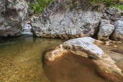 小河Cerna,罗马尼亚 库存照片