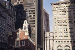 小波士顿中心的教会 库存照片