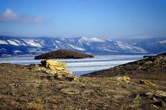 小海在冬天 免版税库存图片