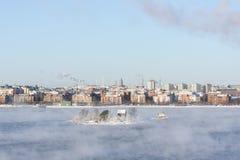 小海岛在赫尔辛基,芬兰 库存图片