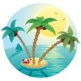 小海岛的横向 免版税库存图片