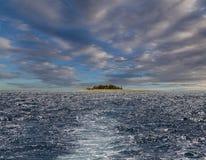小海岛的海洋 斐济 免版税库存图片