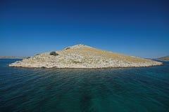 小海岛的kornati 库存图片