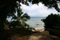 小海湾斐济海运 库存照片