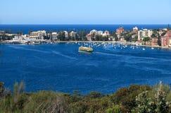 小海湾港口男子气概的国家公园悉尼 图库摄影