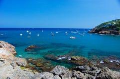 小海湾肋前缘Brava西班牙 免版税图库摄影