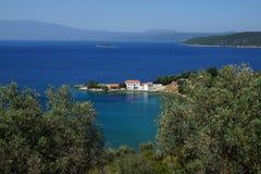 小海湾,登上皮立翁山,色萨利,希腊 免版税库存照片