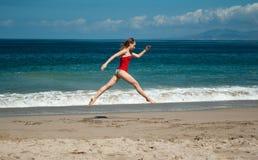 小海滩的喷气机 免版税库存照片
