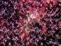 小深红光芒空间的马赛克结晶 免版税库存图片