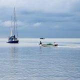 小渔船。 库存图片