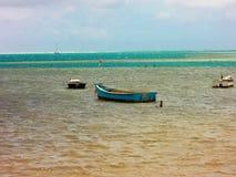 小渔船在夏威夷 图库摄影