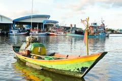 小渔船 库存图片