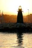 小港口意大利的海岸 库存照片