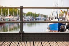 小港口桥梁 库存照片