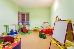 小游戏室在幼儿园 免版税库存图片