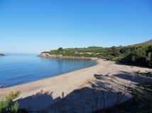 小游艇船坞二卡梅罗塔- Calanca海滩 免版税库存图片