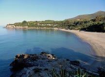 小游艇船坞二卡梅罗塔- Calanca海滩 图库摄影