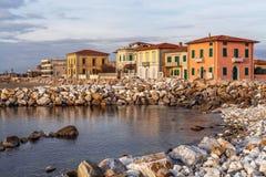 小游艇船坞二比萨,意大利 库存照片