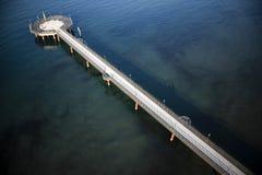 小游艇船坞二皮耶特拉桑塔码头  免版税库存图片