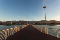 从小游艇船坞二马萨码头  库存图片