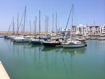 小游艇船坞口岸在阿加迪尔 图库摄影