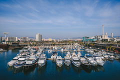 小游艇船坞口岸论坛,巴塞罗那 免版税图库摄影